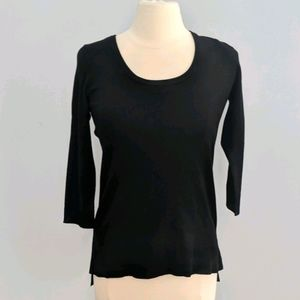 Cyrus Black Hi Lo Hem Scoop Neck Sweater Small NEW